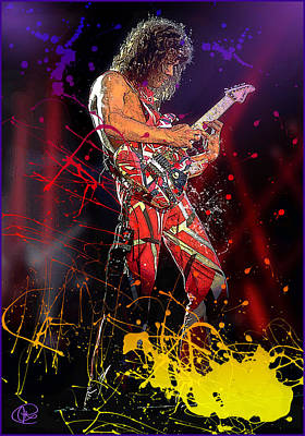 Digital Art - Eddie Van Halen by Hay Rouleaux
