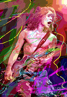 Portraits Royalty-Free and Rights-Managed Images - Eddie Van Halen Jump by David Lloyd Glover