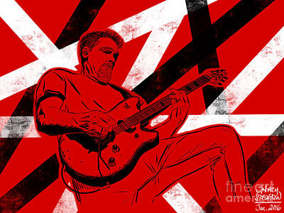 Van Halen Painting - Eddie Van Halen by Stacy Bearden