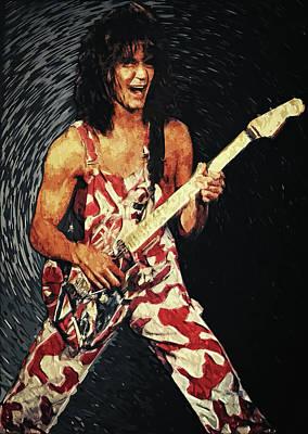 Eddie Van Halen Art Print