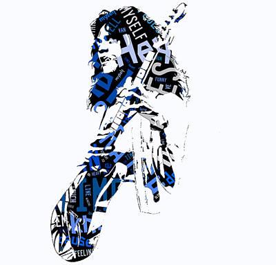 Eddie Van Halen Mixed Media - Eddie Van Halen Why Can't This Be Love Lyrics by Marvin Blaine
