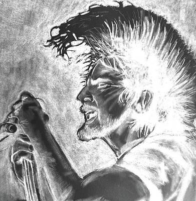 Pearl Jam Digital Art - Eddie Vedder Bleach Finish by Soma79