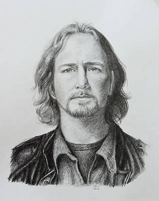 Eddie Vedder Drawing - Eddie Vedder by Carina Povarchik