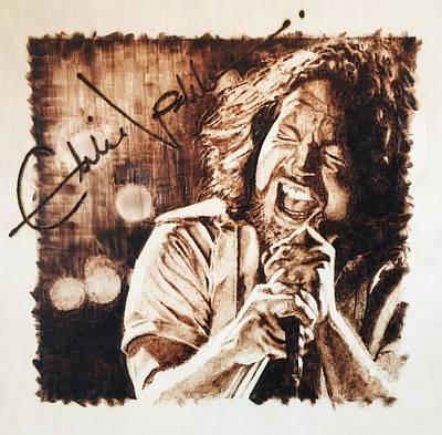 Eddie Vedder Pyrography - Eddie Vedder by Lance Gebhardt