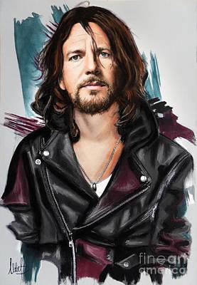 Eddie Vedder Art Print by Melanie D