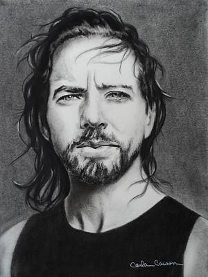 Drawing - Eddie Vedder Of Pearl Jam Nothings As It Seems by Carla Carson