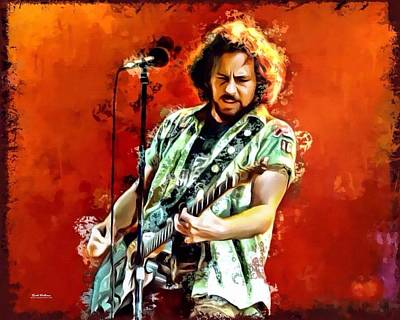 Pearl Jam Digital Art - Eddie Vedder Of Pearl Jam by Scotts Digital Designs