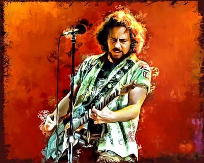 Eddie Vedder Painting Art Print by Scott Wallace