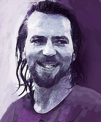 Eddie Vedder Painting - Eddie Vedder Pearl Jam  by Enki Art