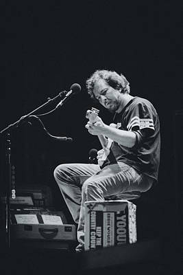 Rock And Roll Royalty-Free and Rights-Managed Images - Eddie Vedder Playing Live by Marco Oliveira
