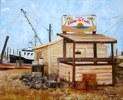 Painting - Eddies On The Creek Belford Nj by Leonardo Ruggieri