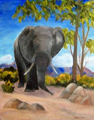 Painting - Eddy Elephant by Jamie Frier