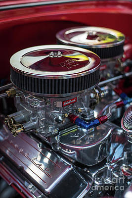 Sixties Photograph - Edelbrock And Chevy by Mike Reid