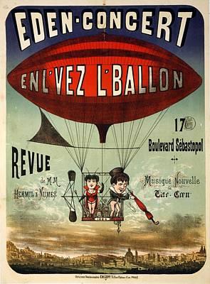 Mixed Media - Eden-concert - Air Balloon - Vintage Advertising Poster by Studio Grafiikka