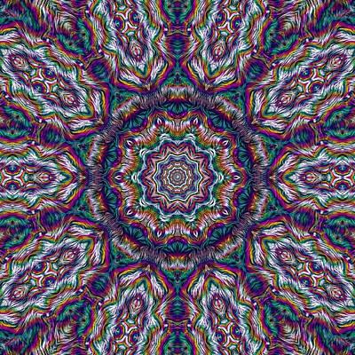 Freedom Mixed Media - Eden Of Paradise Rainbow Flower by Pepita Selles