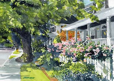 Painting - Edenton Floral by Dick Dee