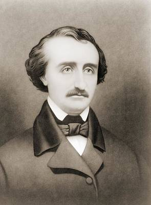 Poe Drawing - Edgar Allan Poe, 1809 To 1849. American by Vintage Design Pics