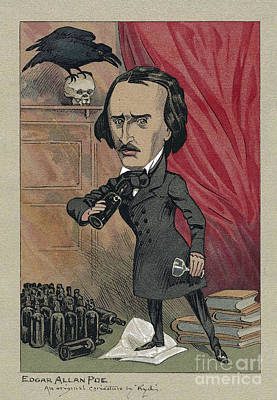 Edgar Allan Poe, American Author Art Print