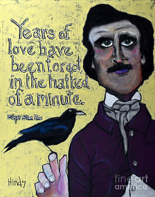 Portrait Pastel - Edgar Allan Poe by David Hinds