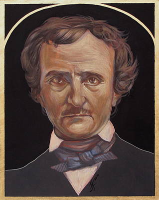 Painting - Edgar Allan Poe by Jovana Kolic