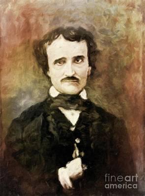 Vintage Painter Painting - Edgar Allan Poe, Literary Legend By Mary Bassett by Mary Bassett