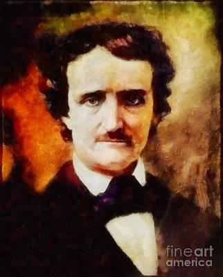 Famous Book Painting - Edgar Allan Poe, Literary Legend by Sarah Kirk