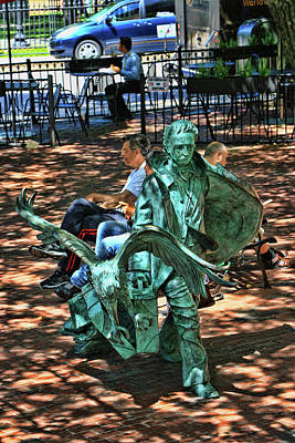 Photograph - Edgar Allan Poe Sculpture - Boston by Allen Beatty