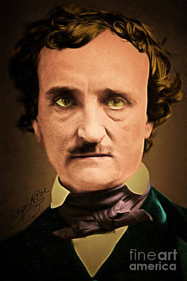 Photograph - Edgar Allan Poe The Raven 20160420 With Signature by Wingsdomain Art and Photography
