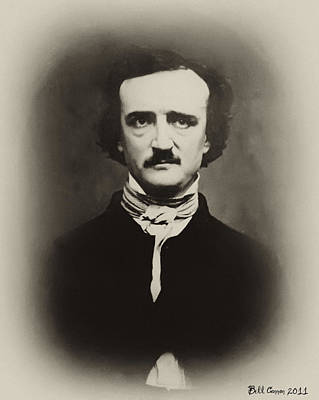 Edgar Allen Poe Art Print by Bill Cannon