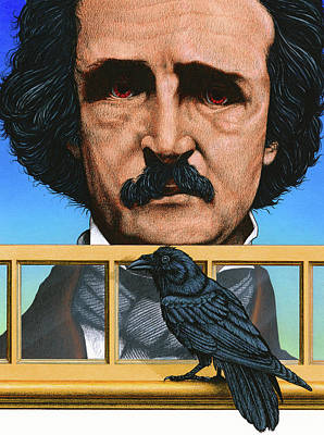 Mixed Media - Edgar Allen Poe by John D Benson