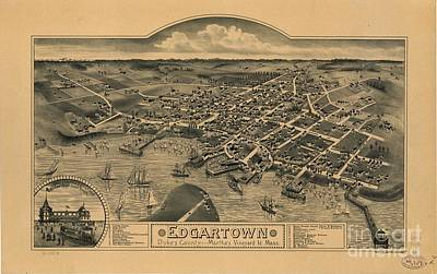 Martha Drawing - Edgartown, Duke's County, Martha's Vineyard Id., Mass 1886 by Baltzgar