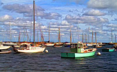 Edgartown Harbor Art Print by Gina Cormier
