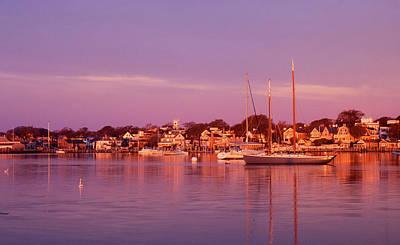 Marthas Vineyard Photograph - Edgartown Harbor by John Burk