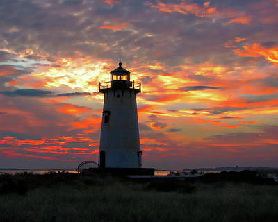 Photograph - Edgartown Harbor Light by Anthony Dezenzio