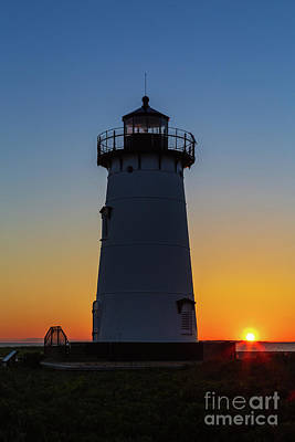 Photograph - Edgartown Harbor Light Sunrise II by Clarence Holmes