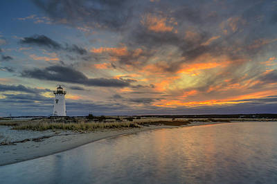 Edgartown Ligh At Dawn Art Print