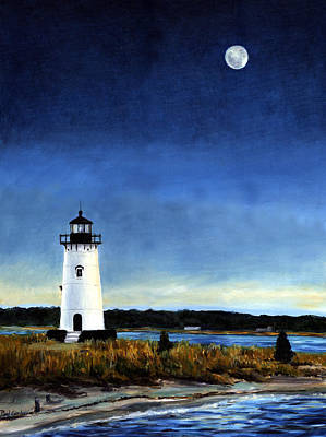 Cape Cod Painting - Edgartown Light Morning by Paul Gardner