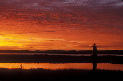 Marthas Vineyard Photograph - Edgartown Lighthouse Sunrise by John Burk