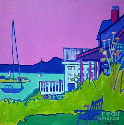 Cape Cod Painting - Edgartown Porches by Debra Bretton Robinson