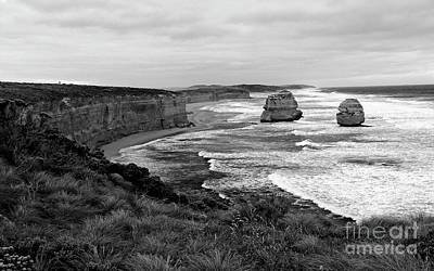 Photograph - Edge Of A Continent Bw by Tim Richards