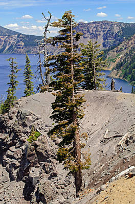 Photograph - Edge Of Crater Lake by Tikvah's Hope