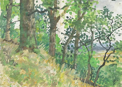 Painting - Edge Of Forest In Summer,nature Diary by Martin Stankewitz