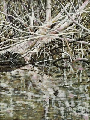 Mixed Media - Edge Of Smith Lake by Andrea Benson