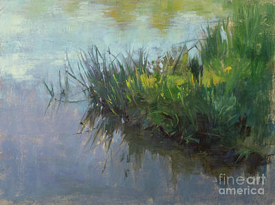 Wall Art - Painting - Edge Of The Lake by Patrick Saunders