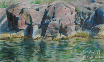 Painting - Edge Of The River by Jeanette Skeem