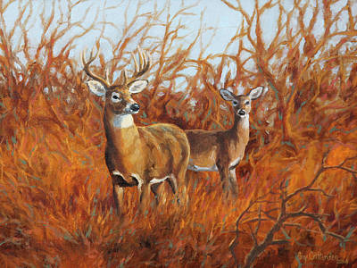 Wall Art - Painting - Edge Of The Thicket by Guy Crittenden