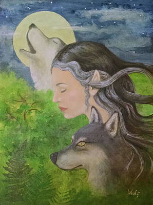 Mixed Media - Edge Of The Wild by Bernadette Wulf