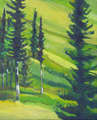Wall Art - Painting - Edge Of The Woods by Pam Little