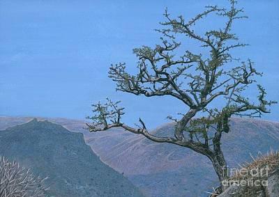 Rambling Painting - Edge Of The World Lake District Landscape by David Elliston