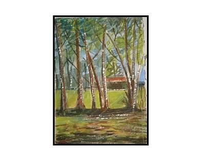 Edge Of Woods Art Print by Angela Puglisi